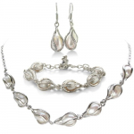 Freshwater Pearl Set, Necklace, Bracelet and Earrings Only $17.97 (Reg. $129.99!)
