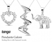 Sterling Silver with Diamond Accent Pendants as Low as $9.99!