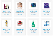 Personal Care Coupons- Covergirl, Crest, Olay, and More!