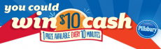 Win 1 of over 24,000 $10 Visa Gift Cards from Pillsbury!