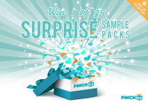 Win 1 of 25 PINCHme Sample Packs Valued at $35 Each!