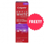 FREE Colgate Optic White Platinum Toothpaste at Walgreens!