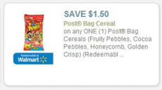 $1.50 off Post Bag Cereal Coupon!