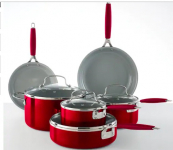Food Network 10 pc Cookware Set $56 on sale+ $15 Kohl's Cash!