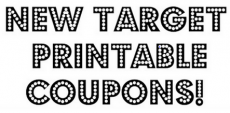 HOT! New Target Printable Coupons!