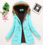 Women's Casual Warm Thick Hooded Parka Jacket $33.99 (REG $117.99)