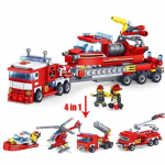 4-in-1 Transforming Fire Fighting Truck Building Blocks – 348 Pieces $21.99 (REG $81.99)