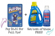 2 Packs of Pull-ups, All Detergent and NeilMed Wound Wash All for $4.97 at Walgreens!