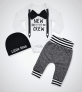 Newborn Baby Boy Clothes New to The Crew Letter$16.99 (REG $79.99)