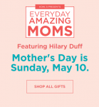 Take $10 off $50 Mother's Day Gifts w/ Promo Code
