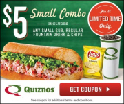 Quiznos Coupon for $5 Small Combo!