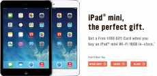Radio Shack: FREE $100 Gift Card AND $60 Holiday Cash with iPad Mini Purchase