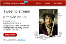 """Redbox Instant  Free Rental of """"The Hobbit: An Unexpected Journey""""- Today Only"""
