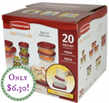 Rubbermaid Easy Find Lids 20-Piece Storage Set Only $6.30 (Reg. $19.99)!