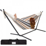 Double Hammock With Space Saving Stand Only $63.94 (reg $250) + FREE Shipping!