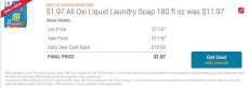 All Oxi Liquid Laundry Soap 180 fl oz only $1.97 (reg $11.97)