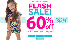 Carter's: Save 60% Off Tanks, Rompers, & More + An Additional 30% Off Clearance!