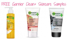 FREE Sample of Garnier Clean Skincare Products!