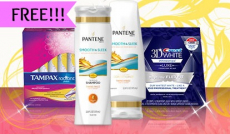 *HOT* FREE Package of Pantene, Tampax, and Crest Samples!