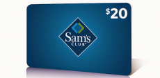 Sam's Club: Free $20 Gift Card to New Or Existing Members + Additional $5 Gift Card!
