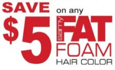 Samy Fat Foam Hair Color $5 off Coupon + $2 Money Maker Deal at Rite Aid