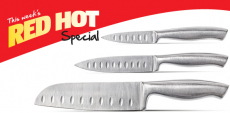 3-Piece Santoku Knife Set Only $6.99 at Aldi!