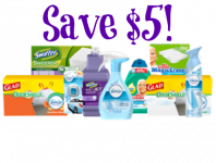 New Savingstar Offer- Save $5 on Febreze, Glad, Mr. Clean, and Swiffer Products!
