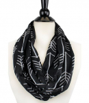 Women's Arrow Patterned Infinity Scarf with Zipper Pocket Only $11 (reg $22) Shipped!