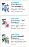 $9 in High Value Schick Coupons!