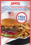 Free All-American Burger at Shoney's For Active Duty Military and Veterans!