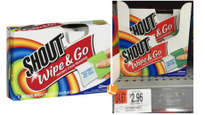 Shout Wipe & Go Instant Stain Remover only $0.96 at Walmart!
