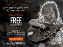 FREE 16×20 Print from Shutterfly!
