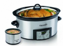 Crock-Pot 6-Quart Programmable Oval Slow Cooker with Dipper in Stainless Steel Only $29.99 (reg $54) Shipped!