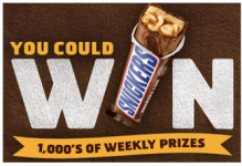 Snickers NFL Super Bowl Instant Win- Over 200,000 Winners!