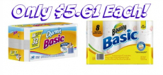 Bounty Paper Towels 8-Pk and Charmin Basic 16-Pk Only $5.61 Each at Staples!