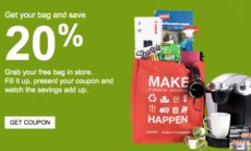Staples: FREE Eco Tote Bag + 20% off Everything You Can Fit Into It!