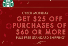 Starbucks.com: $25 off Purchase of $60 or More + FREE Shipping- Today Only!