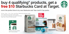 FREE $10 Starbucks Gift Card with Purchase at Target!