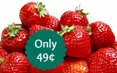 Strawberries Only 49¢ at Aldi or Walmart!