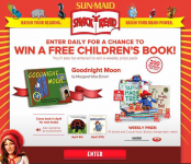 Free Sun-Maid 'Snack-n-Read' Instant Win Game (14,000 winners)