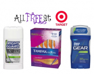 HOT! FREE Tampax Radiant, Right Guard, and Speed Stick Products at Target!
