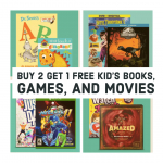 Buy 2 Get 1 Free sale on books, games, and movies at Target
