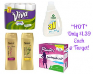 HOT! All Detergent, Viva Paper Towels, Playtex Tampons, and Suave Professionals Only $1.39 Each at Target!