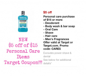 3 Great Target Coupons: $5 off $15 Personal Care, $10 off $50 Home Decor and $15 off $50 Pet Purchase!