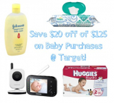 NEW Target Coupon-$20 Off of $125 Purchase of Baby Items!