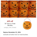 Trick or Treat Pumpkin Buckets Only 60¢ Each at Target!