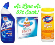 FREE $5 Gift Card at Target with Cleaning Supplies Purchase- Lysol, Mr. Clean, and Clorox as low as 67¢!