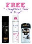 FREE TRESemme & Dove Hair Sprays and Degree Deodorant at Target!
