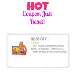HOT! $2 Off Tide Coupon – Just Reset!