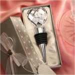 Chrome Bottle Stopper with Crystal Heart Only $3.19 + FREE Shipping!